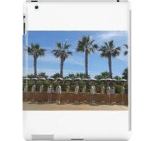atmospheric warming, hot summer, Palmtrees, blue sky, robot, holiday,  iPad Case/Skin