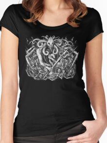 Six Horned Satan Women's Fitted Scoop T-Shirt