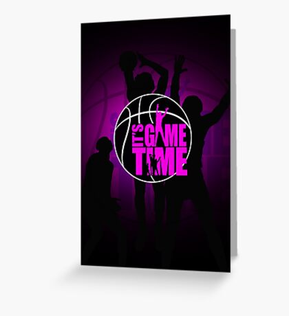It's Game Time - Pink Greeting Card