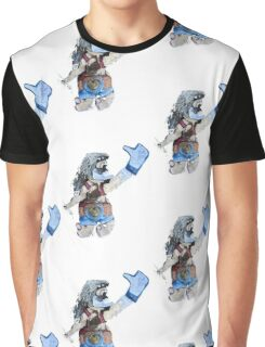 Thumbs Up Strongman   Graphic T-Shirt