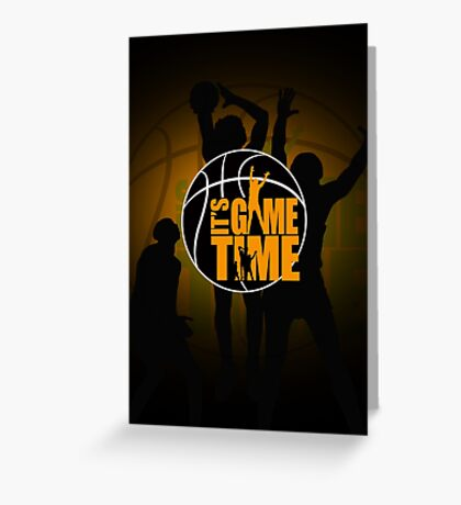 It's Game Time - Yellow Greeting Card