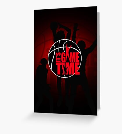 It's Game Time - Red Greeting Card