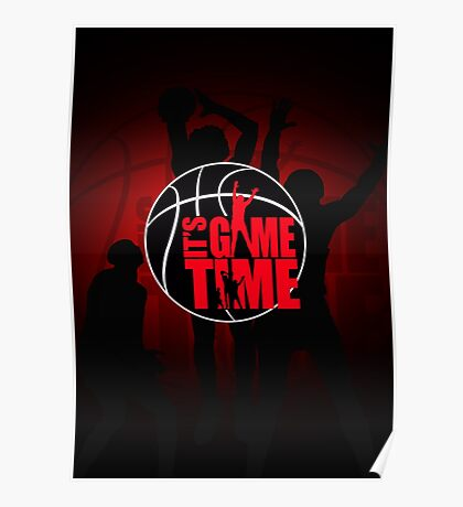 It's Game Time - Red Poster