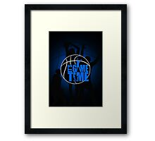 It's Game Time - Blue Framed Print