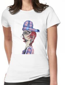 Theatre Officiando Shadow Puppet  Womens Fitted T-Shirt