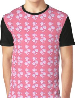 Pale Pink Flower Graphic T-Shirt