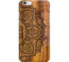 Mandala on wood iPhone Case/Skin