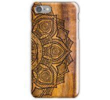 Mandala on wood iPhone Case/Skin