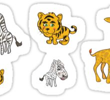 Cute Jungle Animals Pattern  Sticker