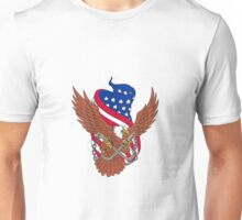 American Eagle Wings USA Flag Drawing Unisex T-Shirt