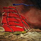 An 18th century Sailing Warship by Dennis Melling