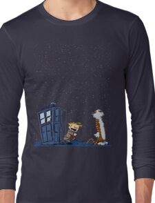 Calvin & Hobbes : Time Travel Long Sleeve T-Shirt