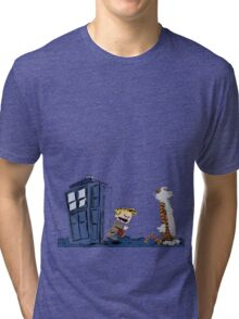 Calvin & Hobbes : Time Travel Tri-blend T-Shirt