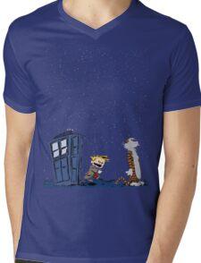 Calvin & Hobbes : Time Travel Mens V-Neck T-Shirt