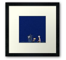 Calvin & Hobbes : Time Travel Framed Print