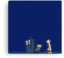 Calvin & Hobbes : Time Travel Canvas Print