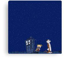 Calvin & Hobbes : Time Travel Canvas Print