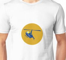 Helicopter Chopper Flying Circle Retro Unisex T-Shirt