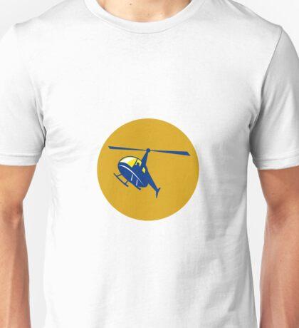 Helicopter Chopper Flying Circle Retro Unisex T-Shirt
