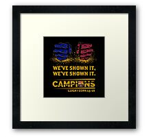 HOT ITEM BARCELONA WE'VE SHOWN IT CAMPIONS LA LIGA COPA DEL REY 2015-2016 Framed Print