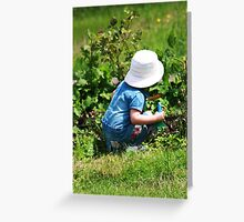 working in the garden Greeting Card