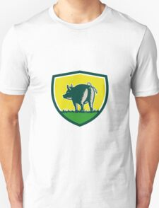 Pig Tail Rear Crest Woodcut Unisex T-Shirt