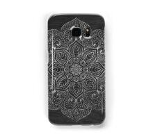 Wood mandala - silver Samsung Galaxy Case/Skin