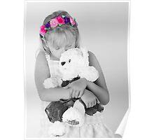 Teddy bear snuggle Poster