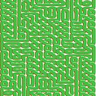 A Celtic Maze in Green by Dennis Melling