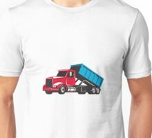 Roll-Off Truck Side Up Retro Unisex T-Shirt