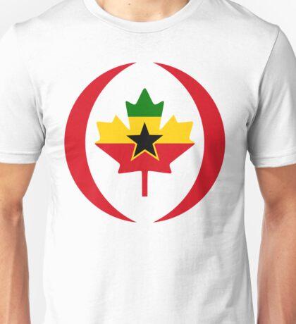 Ghanaian Canadian Multinational Patriot Flag Series Unisex T-Shirt