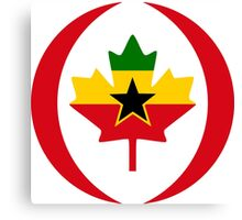 Ghanaian Canadian Multinational Patriot Flag Series Canvas Print