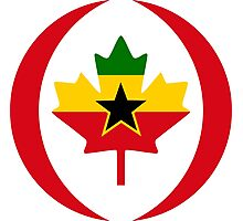 Ghanaian Canadian Multinational Patriot Flag Series Photographic Print