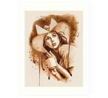 Cafe Belle Art Print