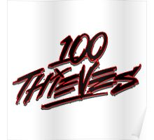 100 Thieves Logo Poster