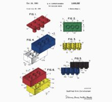Lego Building Brick Patent - Colour Kids Tee