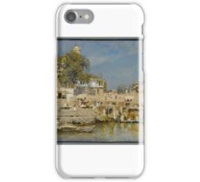 Edwin Lord Weeks (American, ). Temples and Bathing Ghat at Benares, ca.  iPhone Case/Skin