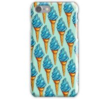 Blue Ice Cream Pattern iPhone Case/Skin