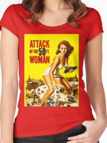 Attack of the 50 foot woman Women's Fitted Scoop T-Shirt