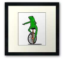 Dat Boi Unicycle Frog T-Shirt Framed Print