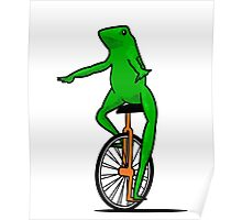 Dat Boi Unicycle Frog T-Shirt Poster