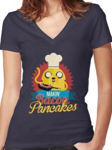 Jake The Dog. Women's Fitted V-Neck T-Shirt
