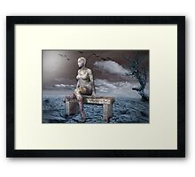 Stone woman Framed Print