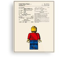 Lego Man Patent - Colour (v1) Metal Print