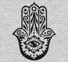 Hamsa - Hand of Fatima, protection symbol Kids Tee