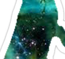 Green Galaxy Bunny Sticker