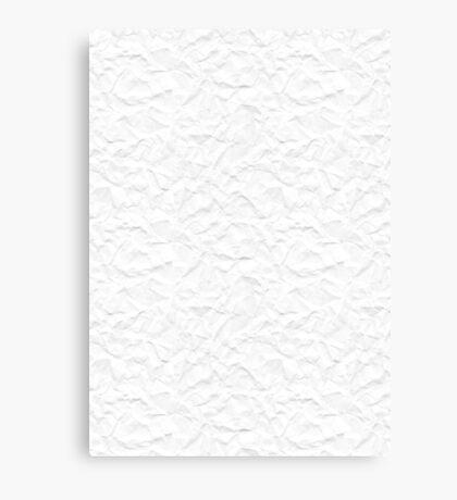 White crumpled paper Canvas Print