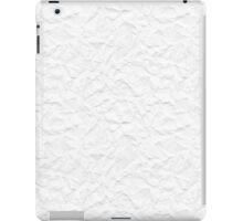 White crumpled paper iPad Case/Skin