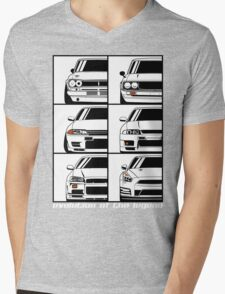 Nissan Skyline. Evolution Mens V-Neck T-Shirt