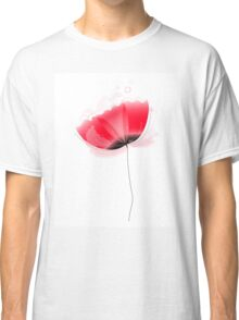Cute beautiful abstract Poppy flower isolated on white Classic T-Shirt